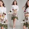 Lady Ribbon Korea Brand SS06300516 Seoul Secret Say's... Flamingo Print Girly Dress
