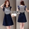 Lady Ribbon Korea Denim Dress LR10270616 &#x1F380 Lady Ribbon's Made &#x1F380 Comme des Garcons Jersey and Denim Dress เ