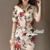 Lady Ribbon Korea Brand SS06060616 Seoul Secret Say's... Vintagely Rose Print ShirtDress