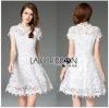 Lady Ribbon เสื้อผ้าเกาหลี LR08140716 &#x1F380 Lady Ribbon's Made &#x1F380 Lady Michelle Modern Bohemian Fringed Lace Dress เดรสผ้าลูกไม้