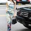 Lady Ribbon Korea Design LV05200616 &#x1F36DKorea Design By Lavida natalie countryside printing sleeveless top long pants fiminine set code