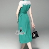 Lady Ribbon Korea Closet Dress Korea Design By Lavida aristocrat crystal decorated white lace stylish dress