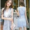 Lace Dress with Ribbon เดรสแขนกุด