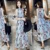 Lady Ribbon Korea Chiffon Sleeveless Maxi Dress