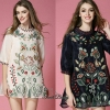 Lady Ribbon Korea Closet Dress SW18060616 Sweet Bunny Present... Floral Embroidered Dress