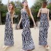 Brand Sevy Zebra Spaghetti Maxi Dress