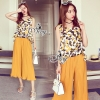 Brand Sevy Classy Simple Look Custard Jumpsuit