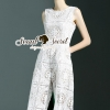 Lady Ribbon Korea Brand SS09060616 Seoul Secret Say's... Classicly Ivory Lace Long Playsuit