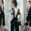 Lady Ribbon Korea Black & White Jumpsuit