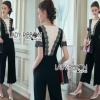Lady Ribbon Korea Black & White Jumpsuit
