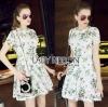 Lady Ribbon Korea Mini Dress LR17270616 &#x1F380 Lady Ribbon's Made &#x1F380 Lady Lizzy Sweet Chic Printed White Lace Mini Dress