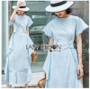 Chic Cotton Ruffle Lady Ribbon Dress
