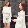 Lady Ribbon Korea Mini Dress LR15230616 &#x1F380 Lady Ribbon's Made &#x1F380 Lady Dani Sweet Princess Embroidered Tulle Dress in White
