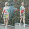 Lady Ribbon Korea Closet SW13060616 Sweet Bunny Present... Lotus Print Poly Dress