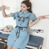 Lady Ribbon Shirt Dress