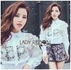 Lady Ribbon Korea Lace Cotton Dress Shirt เดรสเชิ้ตผ้าคอตตอน