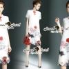 Closet Seoul Secret Say's... Redly Rim Rosy Print Organdy Dress