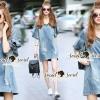 Lady Ribbon Korea Brand SS13060616 Seoul Secret Say's... V Stripy Oranamental Fringe Sleeve Denim Dress