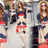 Lady Ribbon Korea Brand SS08060616 Seoul Secret Say's... Mustachely Pleatly Dess