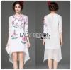 Lady Ribbon Korea Dress เชิ้ต Korea LR16300616 &#x1F380 Lady Ribbon's Made &#x1F380 Lady Stephanie Sweet Pinky English Roses Embroidered Dress