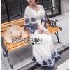 Lady Ribbon Korea Dress LR09060616 &#x1F380 Lady Ribbon's Made &#x1F380 Lady Cathy Casual Beach Chic Lace Embroidered Cotton Maxi Dress