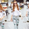 Lady Ribbon Korea Brand SS07060616 Seoul Secret Say's... Chic Shirt ButterFly Denim Set