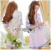 Lady Ribbon Korea Mini Dress LR14270616 &#x1F380 Lady Ribbon's Made &#x1F380 Lady Rachel Summery Classic Blue and White Embroidered Dress