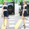 Lady Ribbon Korea Closet SB 08300516 Sweet Bunny Present... Lace Detailed Skater Dress
