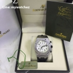 AUDEMARS PIGUET ROYAL OAK OFFSHORE Stainless - White Dial and Black Horn Strap