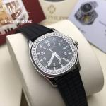 Patek Philippe Aquanaut Luce 5067A-001 - Diamonds Black Strap (Swiss)