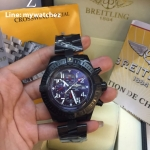 Breitling Super Avenger Watch - Black PVD/ฺBlue Dial