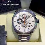 TAG Heuer V4 Stainless White Dial Orange Sub-Second