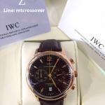 IWC Portugiser Chronograph Black dial Gold Case