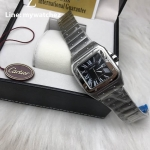 Cartier Santos 100 Mens W200737G - Black dial Stainless