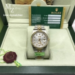 Rolex Datejust Silver Dial Two Tone Diamond Ref#116233 - Swiss Grade