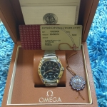 Omega Seamaster Co-Axial GMT - Stainless Black Dial