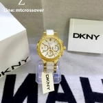 DKNY Women's White/Gold Stainless steel Watch NY8182