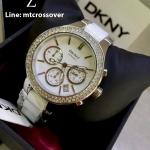 DKNY Women's NY8181 CHAMBERS Analog Display Analog Quartz White Watch