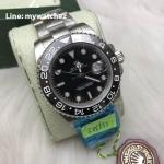 Rolex GMT MasterII Ref: 116710BLN Green Dial GMT - Swiss Grade