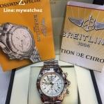 Breitling 1884 Chronomat White Dial Stainless Ref # AB0110