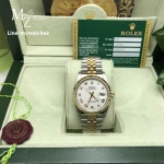 Rolex Datejust Sunbeam White Dial Two Tone Ref#116233 - Swiss Grade