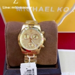 Runway Mini Gold Tone Chronograph Watch - MK5384