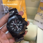 Breitling Super Avenger Watch - Black PVD/ฺBlack Dial