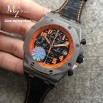 Audemars Piguet Royal Oak Offshore Black Leather Mens Watch 26170STOOD101CR01