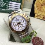 Rolex Cosmograph Daytona Two-Tone White Dial 116523 - Swiss Grade