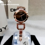 DKNY D-Link Rose Dial Rose Gold-tone Ladies Watch NY8871