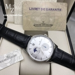 JLC MASTER CONTROL Date Moonphase Stainless 39 MM - Black Strap
