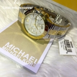 Michael Kors Wyatt Chronograph Silver Dial Two-tone Mens Watch MK5934