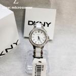 DKNY Women's NY8139 CHAMBERS Analog Display Analog Quartz White Watch