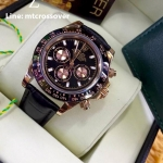 Rolex Cosmograph Daytona - Brown Dial Brown Bezel 3 encounter and Leather Strap